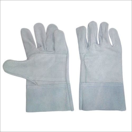 Double palm Split leather welding gloves