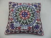 Cotton Crewel Cushion Cover