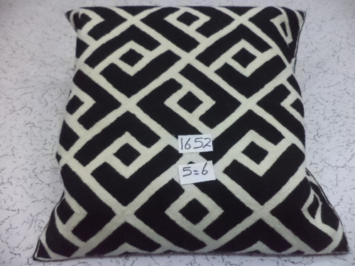 Hand Embroidered Woolen Modern Cushion Covers