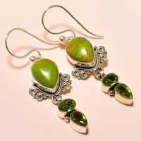 COPPER GREEN TURQUOISE , PERIDOT VINTAGE STYLE
