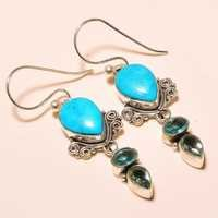 SLEEPING BEAUTY  TURQUOISE , BLUE TOPAZ VINTAGE STYLE