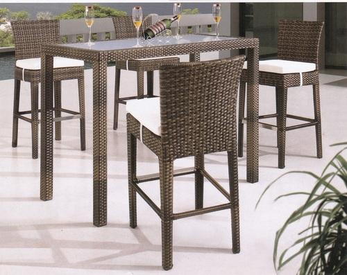 Wicker Bar Furniture Set