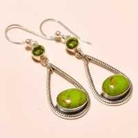 COPPER GREEN TURQUOISE , PERIDOT