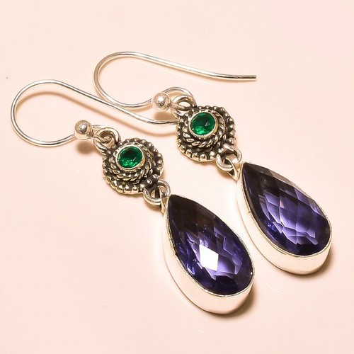 IOLITE , CHROME DIOPSIDE VINTAGE STYLE