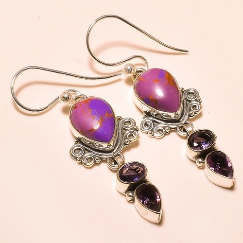 COPPER PURPLE TURQUOISE , AMETHYST VINTAGE STYLE