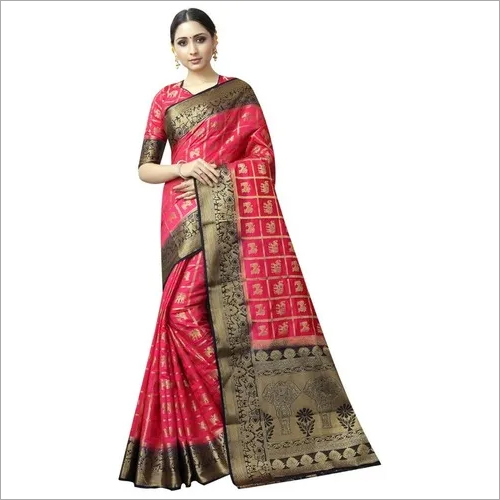 Designer wedding wear patola style saree