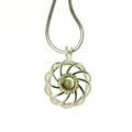 Osho Silver Spiral pendant