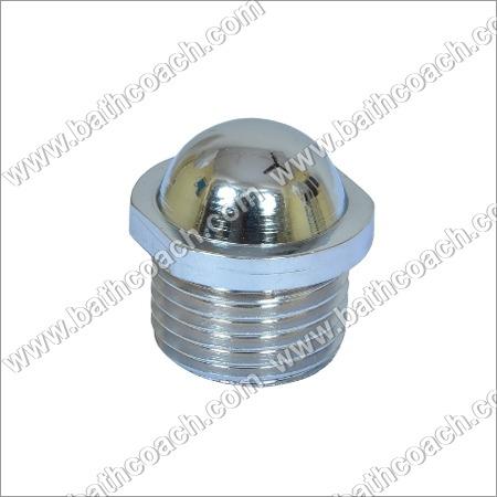 Brass CP Round Stop Plug