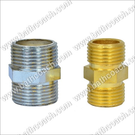 Brass CP Hex Reducing Nipple