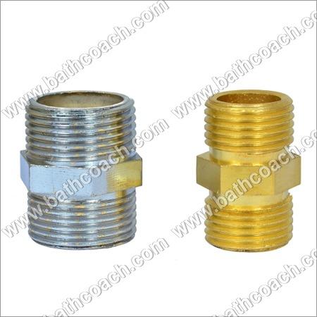Brass CP Hex Reducing Nipple