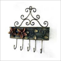 Iron Letter Box With Key Stand