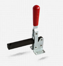 HOLD DOWN TOGGLE CLAMP - VERTICAL HANDLE - SOLID ARM