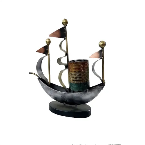 Iron Ship Pen Stand