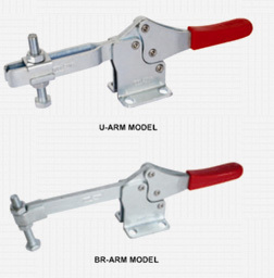 HOLD DOWN TOGGLE CLAMP - HORIZONTAL HANDLE - LONG TYPE
