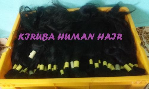 Black Drawn Wavy Hair
