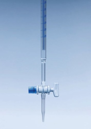Shellbach Burette With Glass Stopcock Class A, Individual Work Certificate