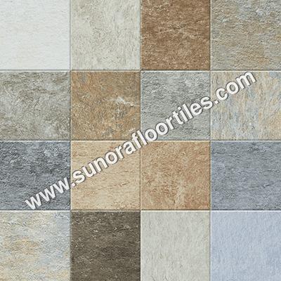 Coloured floor tiles