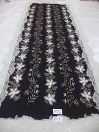 Pure Merino Wool With Emb And 4 Side Lace Stoles