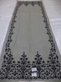 Pure Merino Wool With 4 Side Embroidered Border St