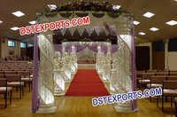 Glittering Wedding Crystal Mandap