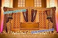 Muslim Wedding Golden Stage Set