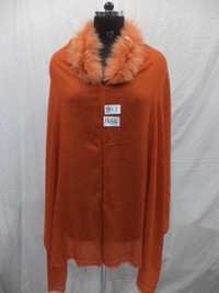 Woolen Fur Neck Cape
