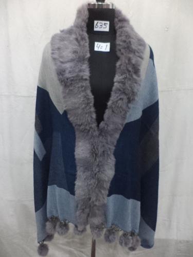 Woolen Jamawar Fur Coat