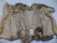 Pure Woolen 4 Side Fur Trim Stole.
