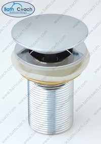 Brass CP Pop Up Full Cap Waste Coupling