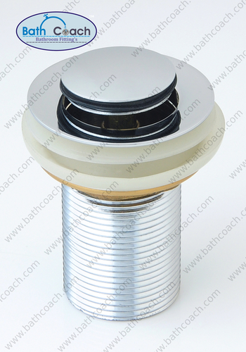 Brass CP Pop Up Half Cap Waste Coupling