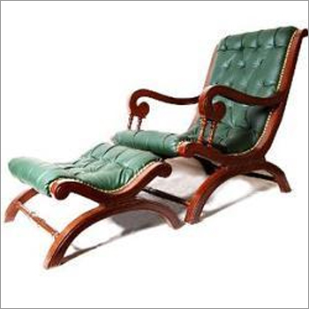Turquoise Easy Chair With Footrest
