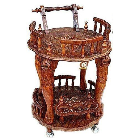 Wooden Antique Trolley