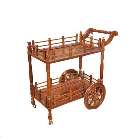 Wooden Service Trolley