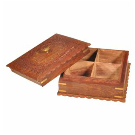 Brown Wooden Jewellery Box