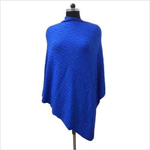 Blue Pashmina Poncho