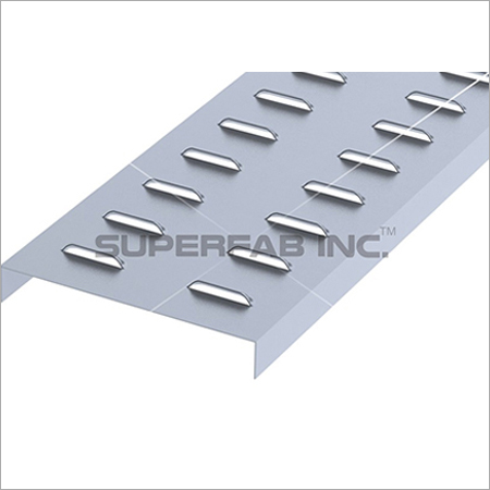 Cable Tray Cover Louvered Flanged
