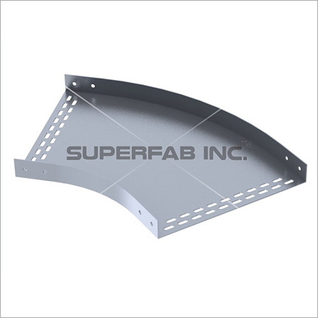 Perforated Cable Tray Horizontal Elbow 45