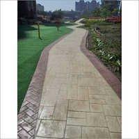 Stamped Garden Concrete