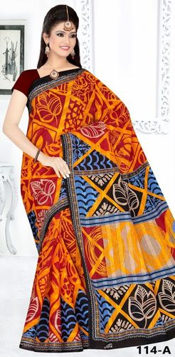 Designer cotton printed saree