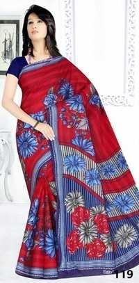 Stylish cotton printed saree