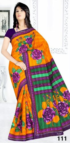 Cotton Printed Saree Suppliers