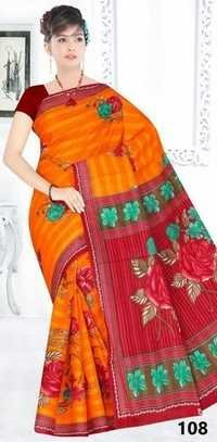 Cotton Printed Saree Manufacturer