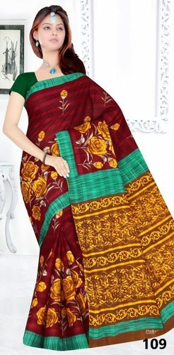 Cotton Printed Saree Exporter