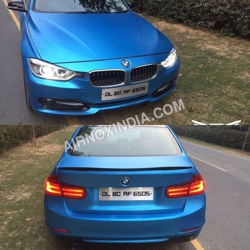 BLUE CHROME CARS WRAP