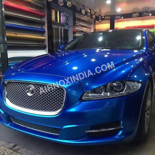 BLUE CHROME CARS WRAP