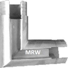 Easy Glass  Cap Rail  Connector