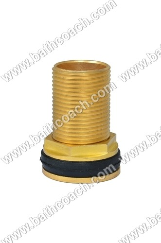 Brass Long Round Tank Connector