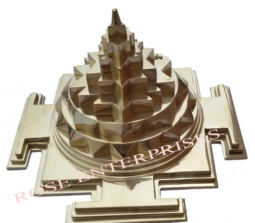Brass 3D Meru Chakra Shree Yantra - ROSE ENTERPRISES, 1154/1