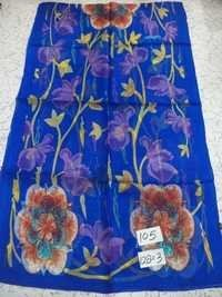 Pure Silk Flower Printed Stoles.