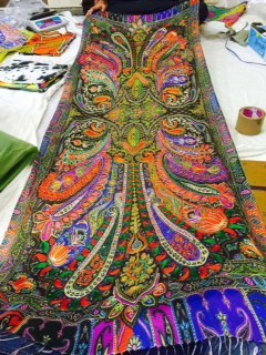 Kashmiri Kalamkari Embroidery Artwork Shawl
